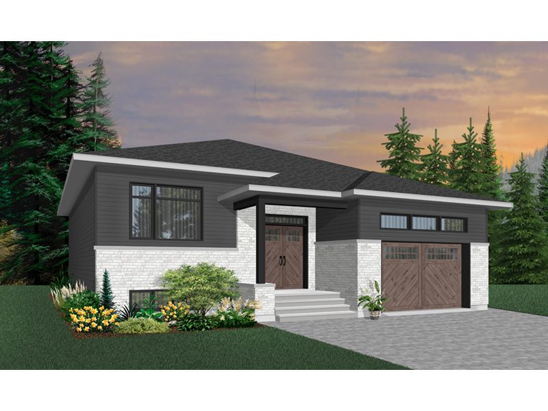 Ranch House Plan Front Photo 03 - Moxie Modern Prairie Home 032D-0839 | House Plans and More