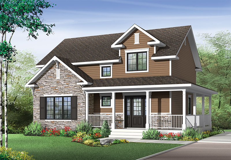 Front of Home - Joshlynn Country Home 032D-0852 | House Plans and More