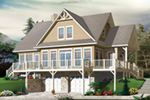 Front Image - Overlook Vacation Home 032D-0858   House Plans and More