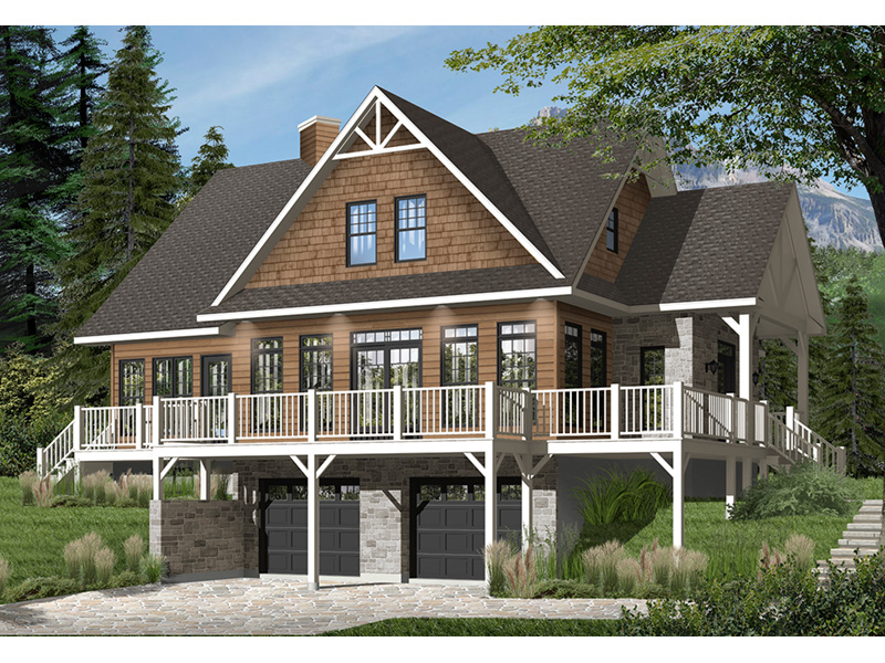Front Photo 01 - Overlook Vacation Home 032D-0858   House Plans and More