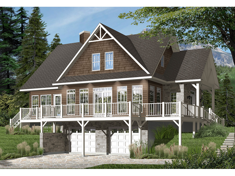 Front Photo 03 - Overlook Vacation Home 032D-0858   House Plans and More