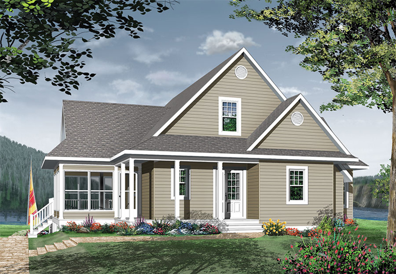 Front Image - Anson Isle Country Lake Home 032D-0859 | House Plans and More