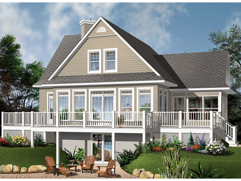 Rear Photo 01 - Anson Isle Country Lake Home 032D-0859 | House Plans and More