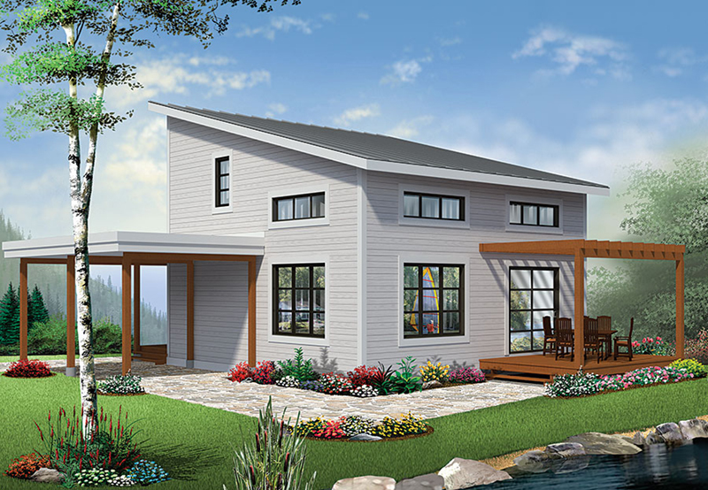Front of Home - Proctor Modern Two-Story Home 032D-0863 | House Plans and More