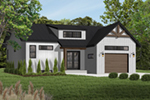 Prairie Style Floor Plan Front of Home - Urban Valley 032D-0877 | House Plans and More
