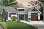 Prairie Style Floor Plan Front Photo 04 - Urban Valley 032D-0877 | House Plans and More