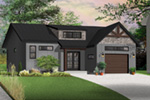 Prairie Style Floor Plan Front Photo 05 - Urban Valley 032D-0877 | House Plans and More
