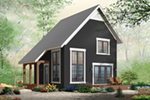 Modern House Plan Front of Home - Ingleside Prairie Style Home 032D-0935 | House Plans and More