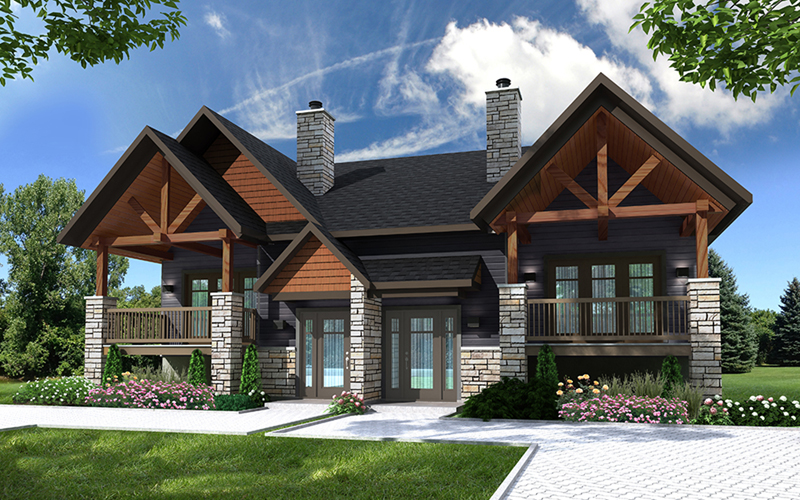 Beach & Coastal House Plan Front of Home -  032D-1035 | House Plans and More