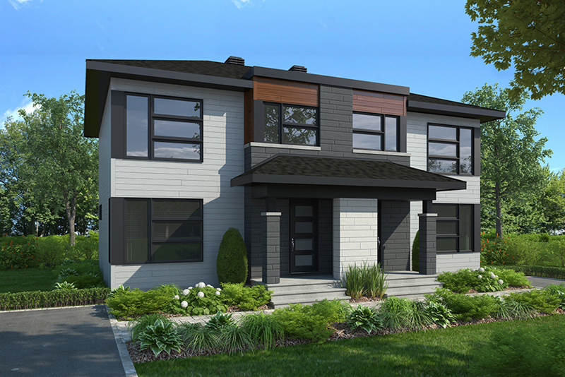 Contemporary House Plan Front of Home -  032D-1036 | House Plans and More