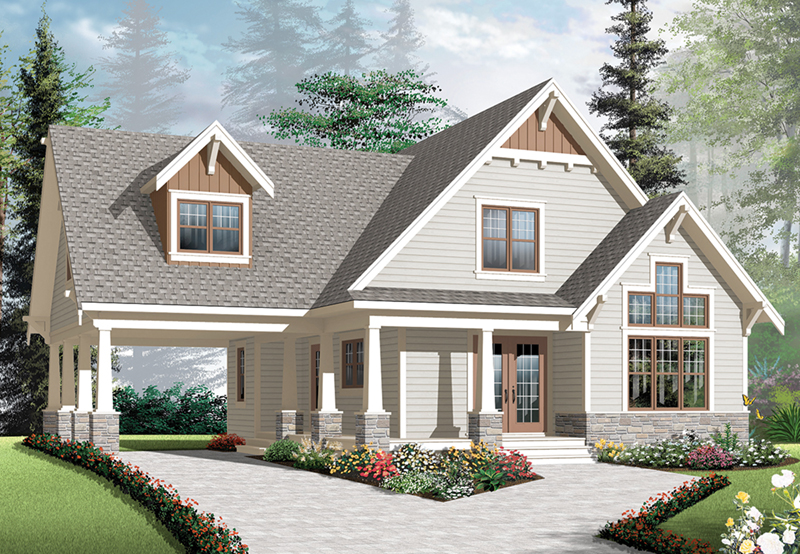 Traditional House Plan Front of Home - 032D-1082 | House Plans and More