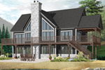 Waterfront House Plan Front of Home - 032D-1084 | House Plans and More