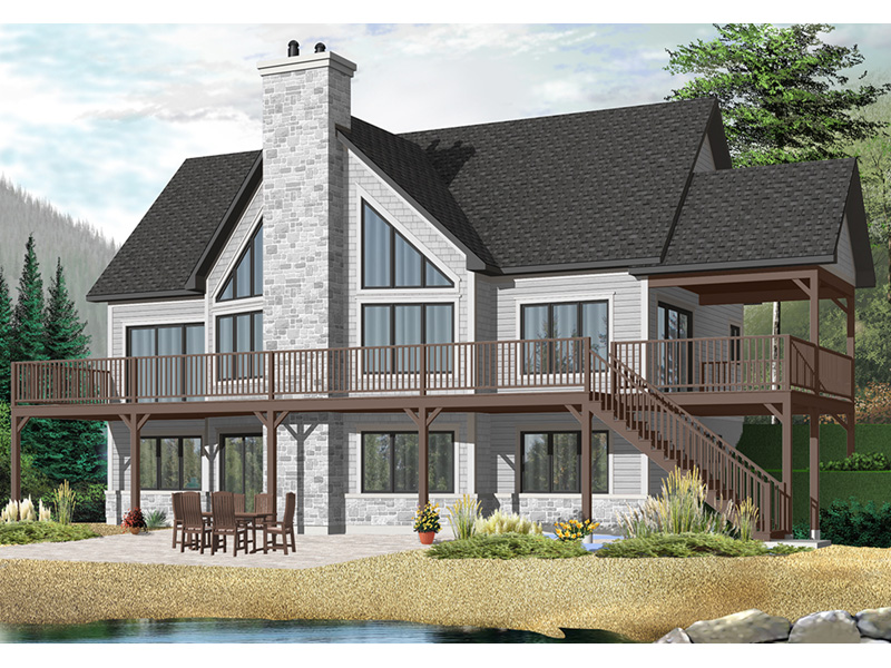 Waterfront House Plan Front Photo 01 - 032D-1084 | House Plans and More