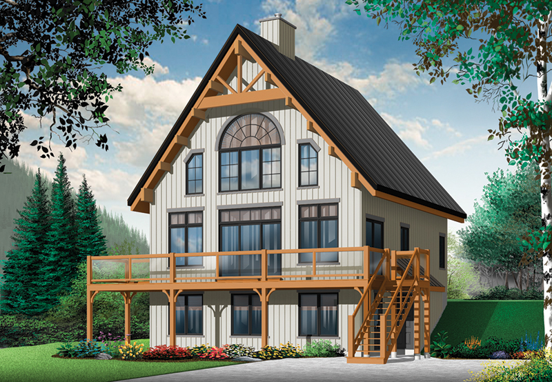 Country House Plan Front of Home - 032D-1085 | House Plans and More