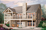 Waterfront House Plan Rear Photo 01 - 032D-1086 | House Plans and More
