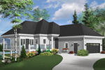 Vacation House Plan Front of Home - 032D-1087 | House Plans and More