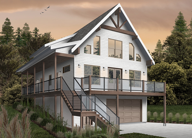 Rustic Home Plan Front of Home - 032D-1106 | House Plans and More