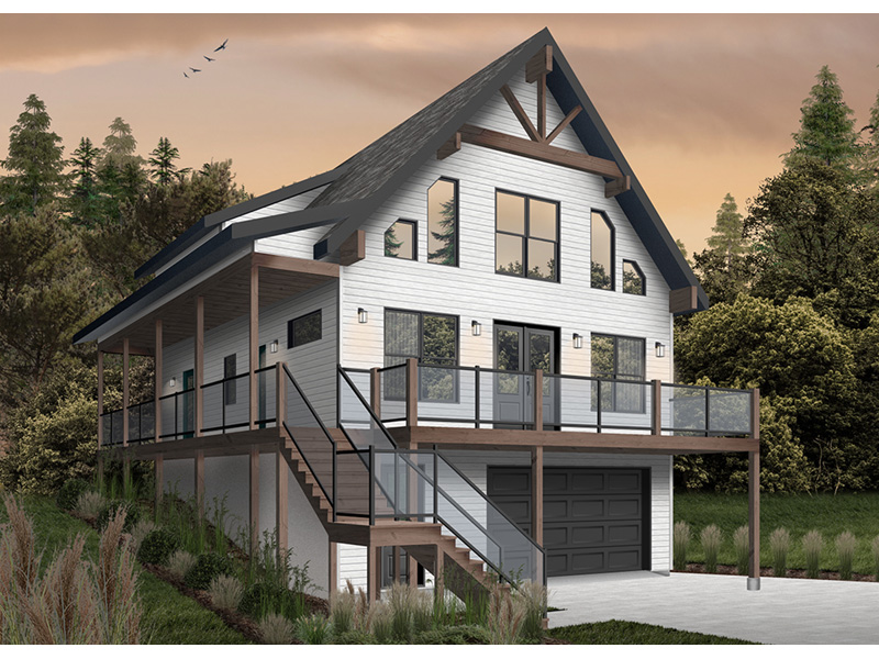 Rustic Home Plan Front Photo 01 - 032D-1106 | House Plans and More