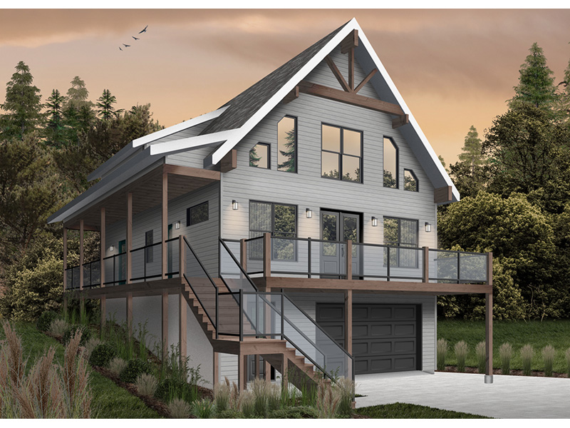 Rustic Home Plan Front Photo 02 - 032D-1106 | House Plans and More