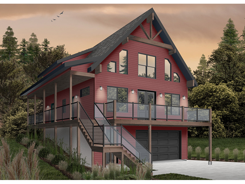 Rustic Home Plan Front Photo 04 - 032D-1106 | House Plans and More