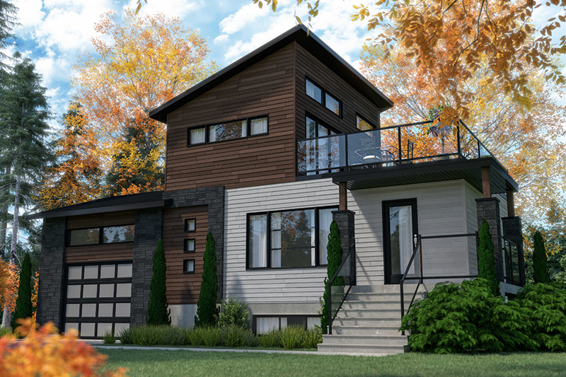 Modern House Plan Front of Home - 032D-1108 | House Plans and More
