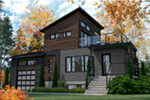 Modern House Plan Front Photo 02 - 032D-1108 | House Plans and More
