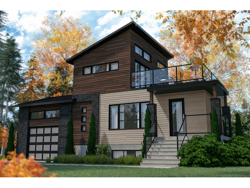 Modern House Plan Front Photo 03 - 032D-1108 | House Plans and More
