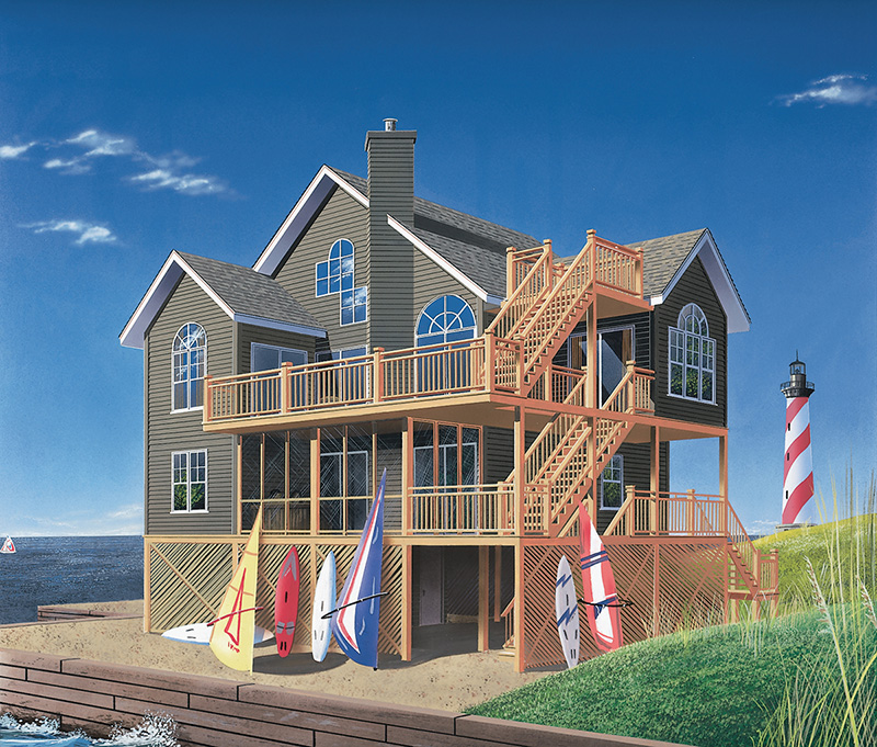 Mountain Home Plan Front Image - 032D-1119 | House Plans and More