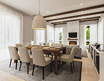 Mountain Home Plan Dining Room Photo 01 - 032D-1120 | House Plans and More