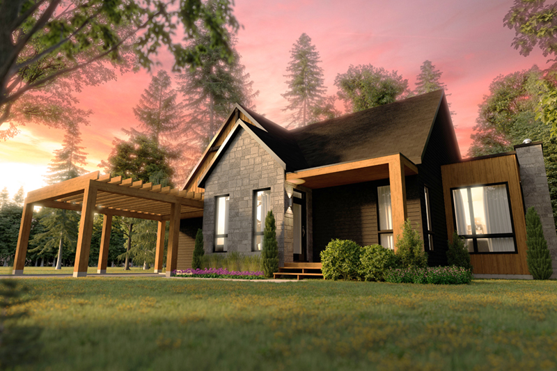 Mountain Home Plan Front of Home - 032D-1120 | House Plans and More