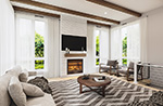 Mountain Home Plan Living Room Photo 01 - 032D-1120 | House Plans and More
