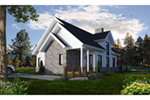 Cabin & Cottage House Plan Front of House 032D-1144
