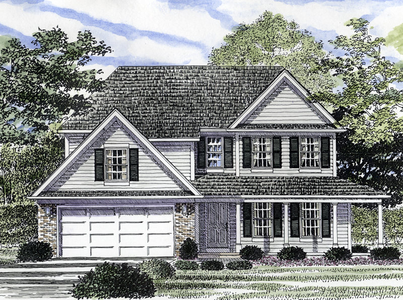 Garden Hill Colonial Style Home Plan 034D-0041 | House Plans ... on brighton house plan, garden cottage southern living house plans, garden view cottage house plan,