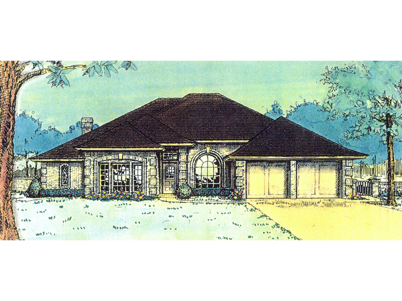 Lombardi European Ranch Home Plan 036d 0061 House Plans And More
