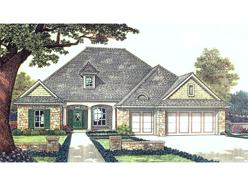 Greenview Ranch Home Plan 036D-0092   House Plans and More on european duplex house plans, brick ranch style house plans, cottage style ranch house plans, european cottage home plans, european country house plans,