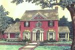 Elegant Georgian Style Two-Story House