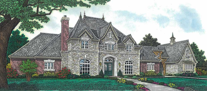 Country House Plan Front of Home - Newstead Manor Luxury Home 036D-0203 | House Plans and More