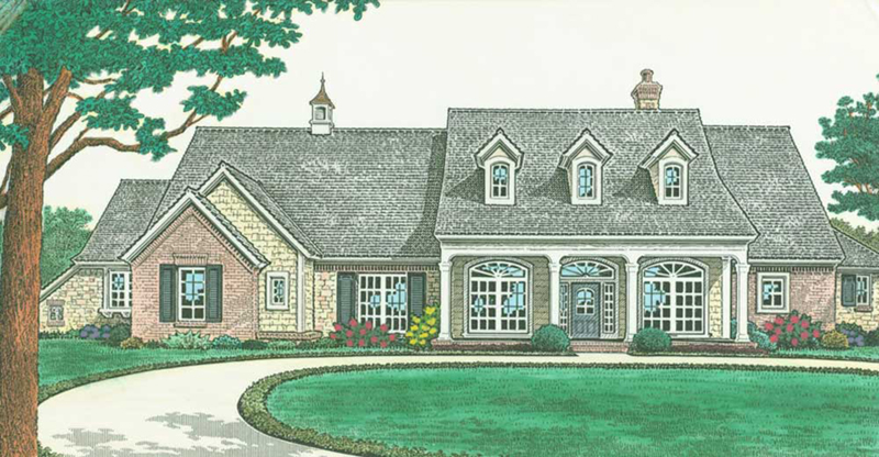 Country House Plan Front of Home -  036D-0204 | House Plans and More