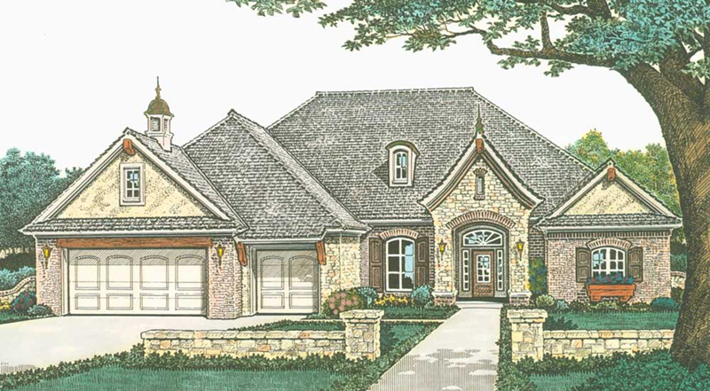 Traditional House Plan Front of Home - Pacey Country Home 036D-0205 | House Plans and More