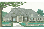 European House Plan Front of House 036D-0206