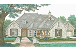 Early American House Plan Front of Home - Roxburg European Tudor Home 036D-0208 | House Plans and More