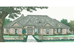 Traditional House Plan Front of Home - Ewell European Ranch Home 036D-0209 | House Plans and More