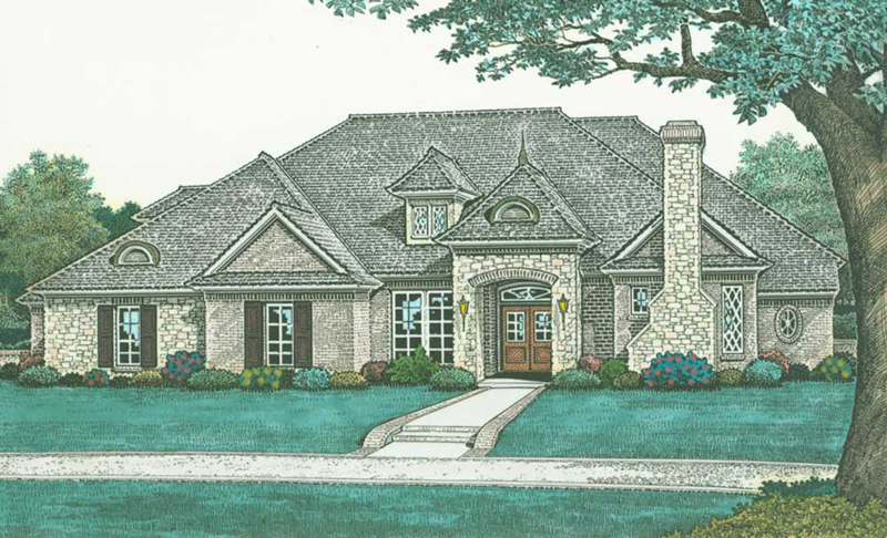 European House Plan Front of Home -  036D-0210 | House Plans and More