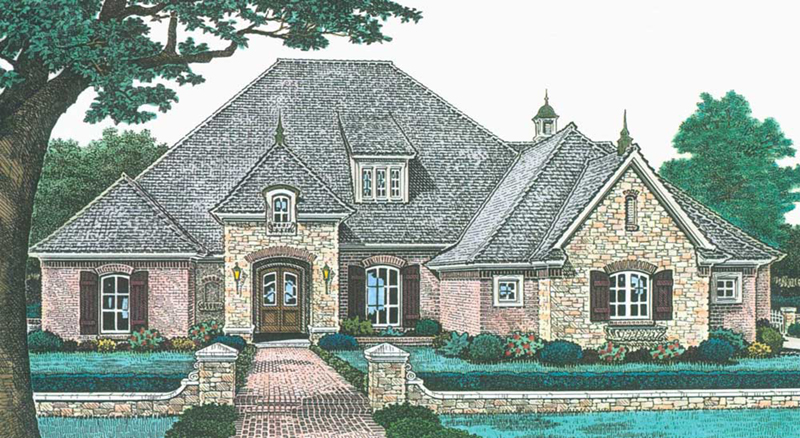 Traditional House Plan Front of Home -  036D-0211   House Plans and More