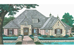 European House Plan Front of House 036D-0211