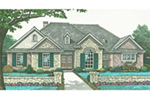 Traditional House Plan Front of House 036D-0212