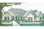 Country French House Plan Front of House 036D-0214
