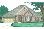 Country French House Plan Front of House 036D-0216