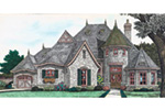 Victorian House Plan Front Image - Holstein Estate Luxury Home 036D-0218 | House Plans and More