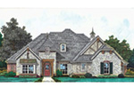 European House Plan Front Image - Kordell European Ranch Home 036D-0219 | House Plans and More